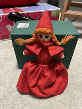 Vintage Topsy Turvy Cloth Little Red Riding Hood Grandma Wolf Flip 3 in 1 Doll
