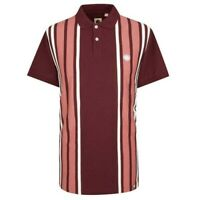 Pretty Green Mens Contrast Panel Polo Shirt Red Size S Mens Polo T-Shirt BNWT