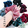 2PC Women Girls Velvet Elastic Hair Band Rope Hair Tie Scrunchie Ponytail Holder