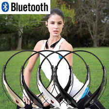 Wireless Bluetooth Headset Stereo Headphone Neckband Sport Retractable Earphone