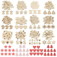 10/50pcs Wooden Christmas Tree Hanging Ornaments Pendant Xmas Crafts Decoration