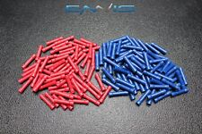 100 PK 14-16 18-22 GAUGE VINYL BUTT CONNECTORS 50 PCS EA TERMINAL BARREL SPLICE
