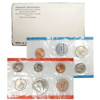 1970 P & D US Mint Set United States Original Government Packaging Box Cello