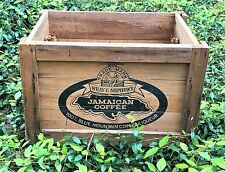 Vintage Wray & Nephew`s Jamaican 100% Blue Mountain Coffee Liquor Wooden Crate
