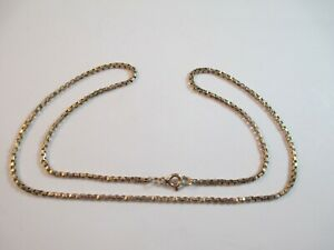 """LOVELY PRE-OWNED 17"""" 9ct YELLOW GOLD BOX LINK CHAIN  5.6g"""