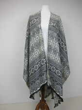 RJR John Rocha Grey Lace Print Wrap - Womens One Size - NWT