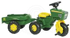Rolly John Deere Ride on Pedal Tractor Trike complete with Sound Steering Wheel