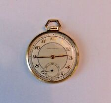 Jewels Beautiful Two Tone Dial Vintage Swiss Girard-Perregaux Pocket Watch 17