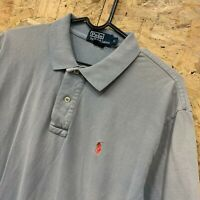 POLO RALPH LAUREN Men's S/S Polo Shirt Blue Cotton Custom Fit Size Small S
