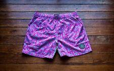 "5.5"" Paisley Swim Shorts - Quick Dry -  No Interior Liner - Size: Large"