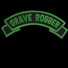KREEPSVILLE666 GRAVE ROBBER SHOULDER ROCKER PATCH 12.5CM. BLACK & GREEN. HORROR.