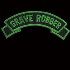 KREEPSVILLE666 GRAVE ROBBER SHOULDER ROCKER PATCH 12.5CM. BLACK & GREEN. HORROR.