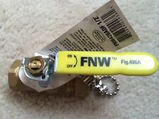 FNW FNW426ADF 600 WOG FIP x Hose Brass Full Port Ball Valve, 1/2 in;3/4 in