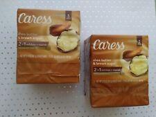 Caress Bar Soap Shea Butter & Brown Sugar (Lot of 6) Exfoliate&Nourish