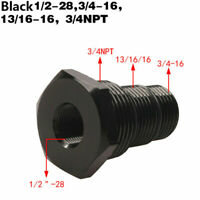Black Automotive Threaded Oil Filter Adapter 1/2-28 to 3/4-16, 13/16-16, 3/4NPT