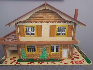 1960/70's Gee Bee Dolls House Swiss Chalet With Garage  Needs Restoration