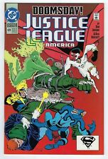 Justice League America #69 1st print (1992, DC Comics) Doomsday Key Issue.