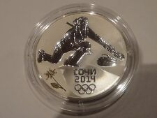 Russia 3 Roubles silver coin Sochi Olympic Curling