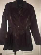 Warehouse Ladies Brown Coat Uk 12/US 8