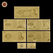 WR Japan 1 5000 - 10000000 Yen Bank Notes 24K Gold Foil Banknotes Set Collection