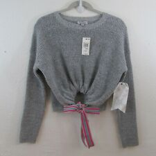 Nwt Crave Fame By Almost Famous Juniors' Ribbon-Tie Cropped Sweater Sz Xs