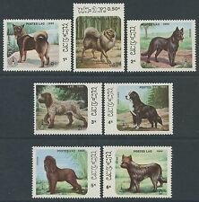 "LAOS N°736/742**  Chiens ""Stockhomia 86""  1986 dogs Sc#737-743 MNH"