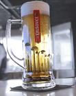 Krusovice Glass Pint Tankard 20oz Used Excellent Condition 100% Genuine CE
