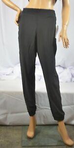 NWT $98 Athleta Size 8 Regular Black Textured Brooklyn Jogger Pant  #566689
