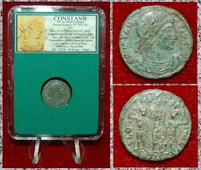 New ListingAncient Roman Empire Coin Of Constans Two Soldiers and One Standard