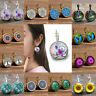 1 Pair Women Glass Round Flower Crystal Rhinestone Ear Stud Earrings Jewelry