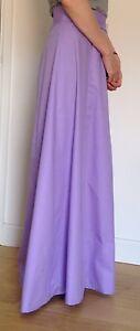 Handmade Edwardian style A-line 6 panels ladies Skirt, full length, black, new