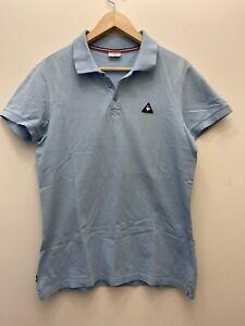 Le Coq Sportif Polo Shirt - Men's Size Medium 100% Cotton Light Blue