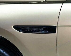 Fit Jaguar XE X760 2015-2016 Black Side Fender Air Vent Outlet Trim Cover 2pcs G