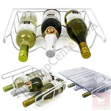Fridge Wine Rack Holder Universal 3 Bottle Steel Organizer Fit All Refrigerators