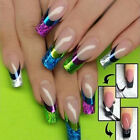 French Nail Art Transfer Stickers Decal 3D Colorful Manicure Tips DIY Decoration