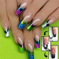 French Nail Art Transfer Stickers 3D Color Design Manicure Tips Decal Decoration