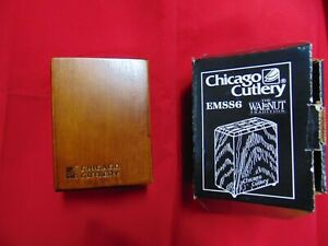 Chicago Cutlery 6 slot steak knife block only wooden NO Knives