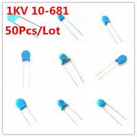 50Pcs 1KV 102 103 221 471 472 222 331 332 10-680 High-voltage Ceramic Capacitor