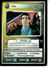 STAR TREK CCG FIRST CONTACT RARE CARD SOLKAR