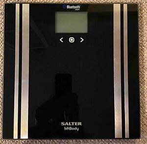 Salter 200kg MiBody Bluetooth Digital Analyser Bathroom Scales Black