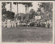 Vintage Photograph 1920'S Ymca Band Boy Scouts Lake Winona Daytona Florida Photo
