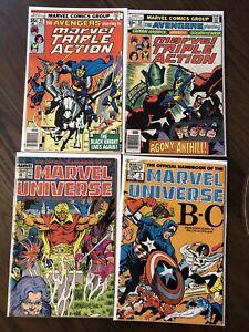 Lot Of  20 Vintage Marvel Universe Comics AVENGERS Hulk Iron Man DD Strange MORE
