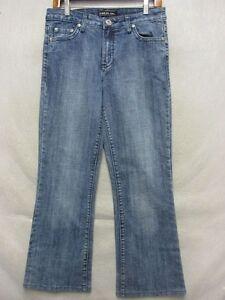 D6583 Gasoline Stretch High Grade Straight Jeans Women 31x28