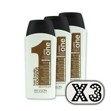 3 pezzi Revlon Uniq One hair & scalp all in conditioning shampoo coconut 300 ml