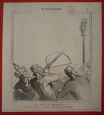 VGTC 112 CARICATURE DAUMIER 1872 RATAPOIL ARBALETTE REPUBLIQUE HD-3385