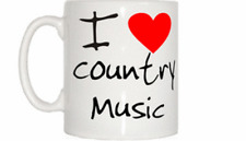 I LOVE Coeur Tasse de musique country