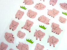 Pig Stickers for Kids, Children PVC17, Fun Labels for Party Bags, Craft
