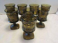 Set 8 Noritake 4oz. wine juice glasses goblets Spotlight walnut brown vintage