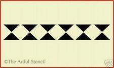DIAMOND 1 BORDER  STENCIL   - The Artful Stencil