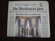 "Washington Post ""The dawn of a second term"" January 21,2013 Inauguration Section"